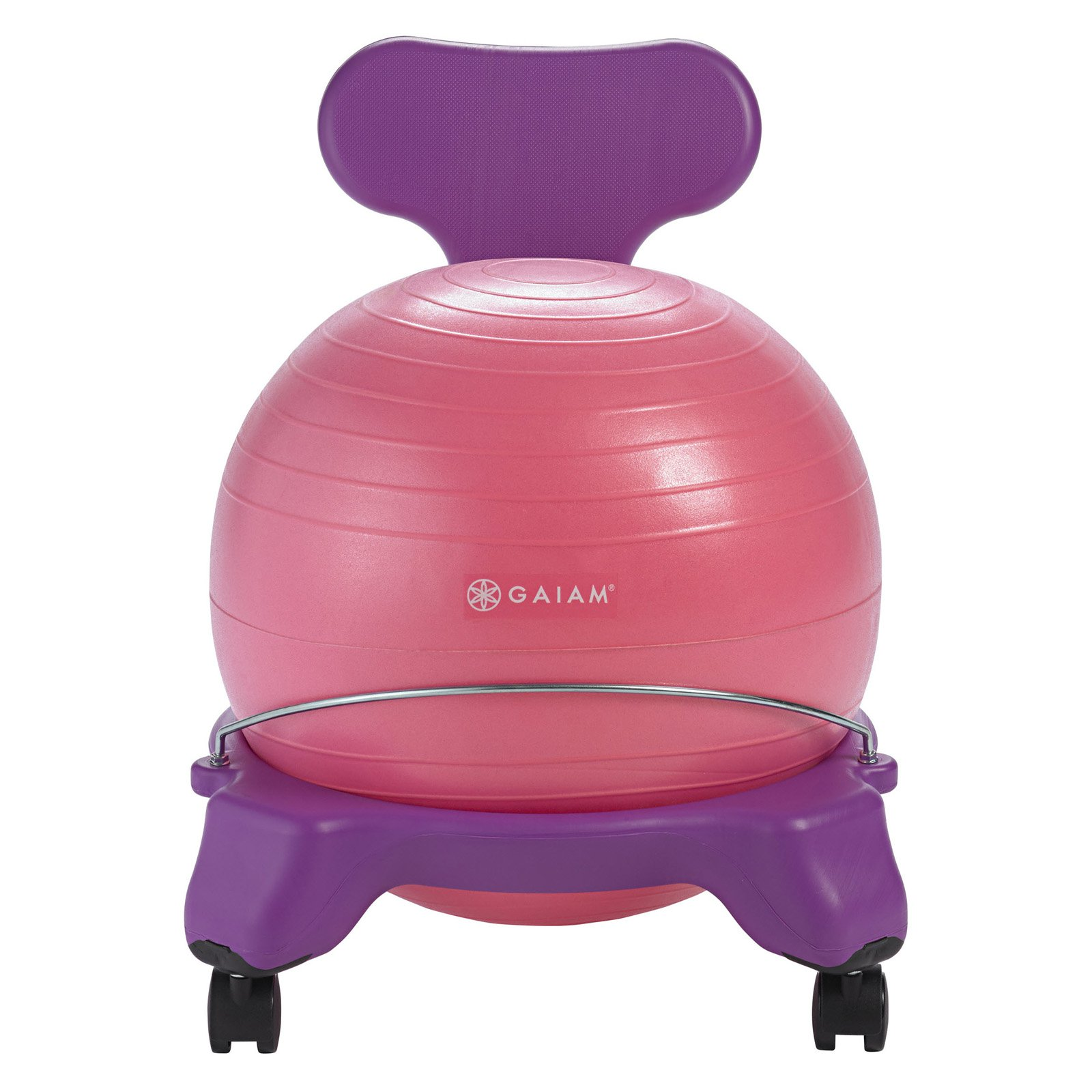 ball chairs massage chair cover for sale gaiam kids balance purple pink walmart com