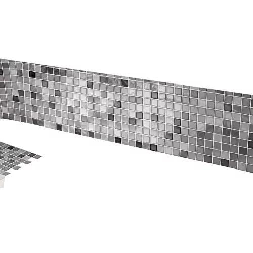 mosaic backsplash tiles set of 6 black and white
