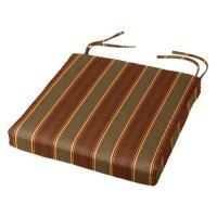 Cushion Source 17.5 x 16 in. Striped Sunbrella Chair Pad ...