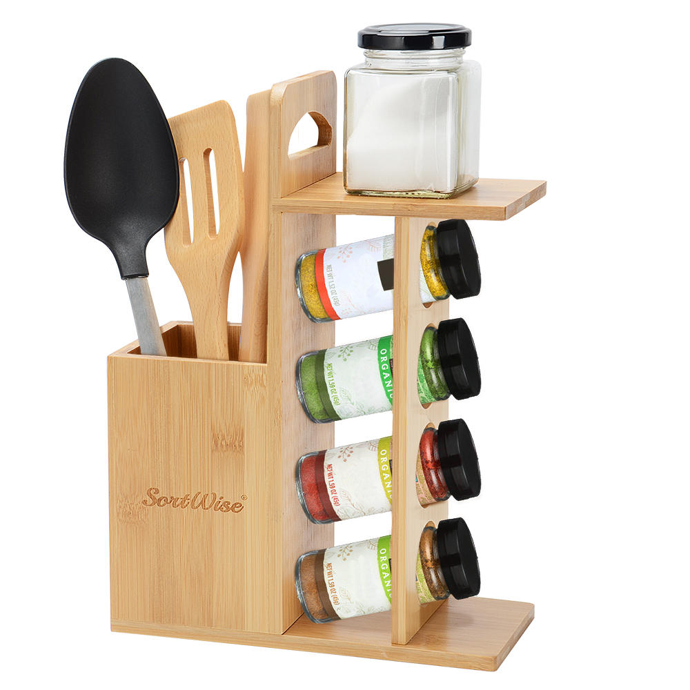 kitchen utensil rack small sink spice holder storage container sortwise