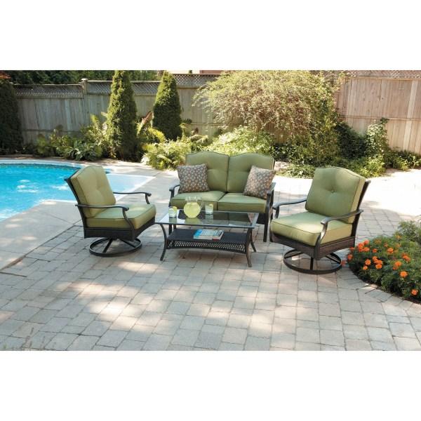 outdoor conversation sets patio furniture 4 Piece Patio Conversation Set Providence Seats Outdoor