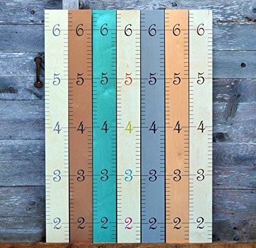 Departments also growth chart art wall hanging wooden ruler for kids rh walmart