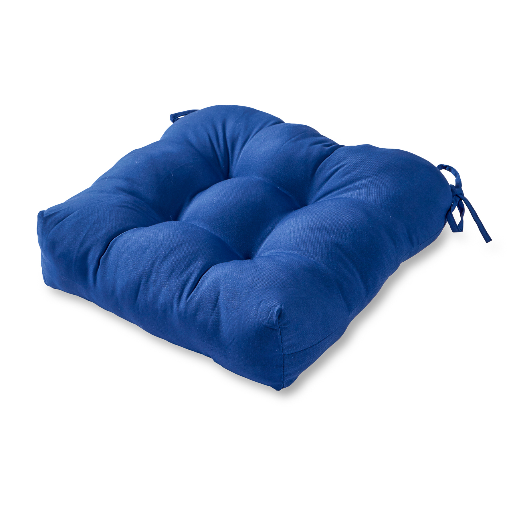 solid color 20 in square plush outdoor chair cushion