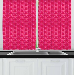 ambesonne boston drapes curtains window 55w messy magenta upside 39l arrangement panels inches letters bedroom down living