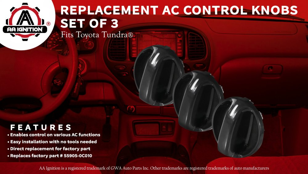 medium resolution of ac climate control knob set of 3 replaces 55905 0c010 559050c010 fits 2000 2001 2002 2003 2004 2005 2006 toyota tundra air conditioner