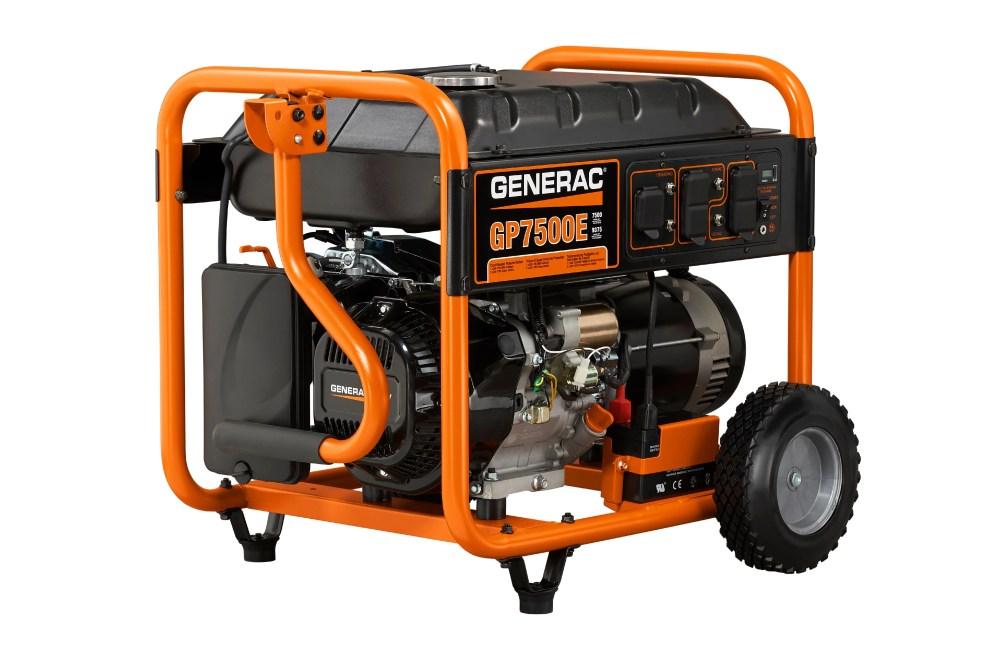 medium resolution of generac 5943 7500 watt electric start portable generator 49 state csa walmart com
