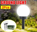2 Pcs Garden Path Lighting Solar Outdoor Lights Ball Light Lantern For Lawn Pathways Yard Patio Walmart Canada