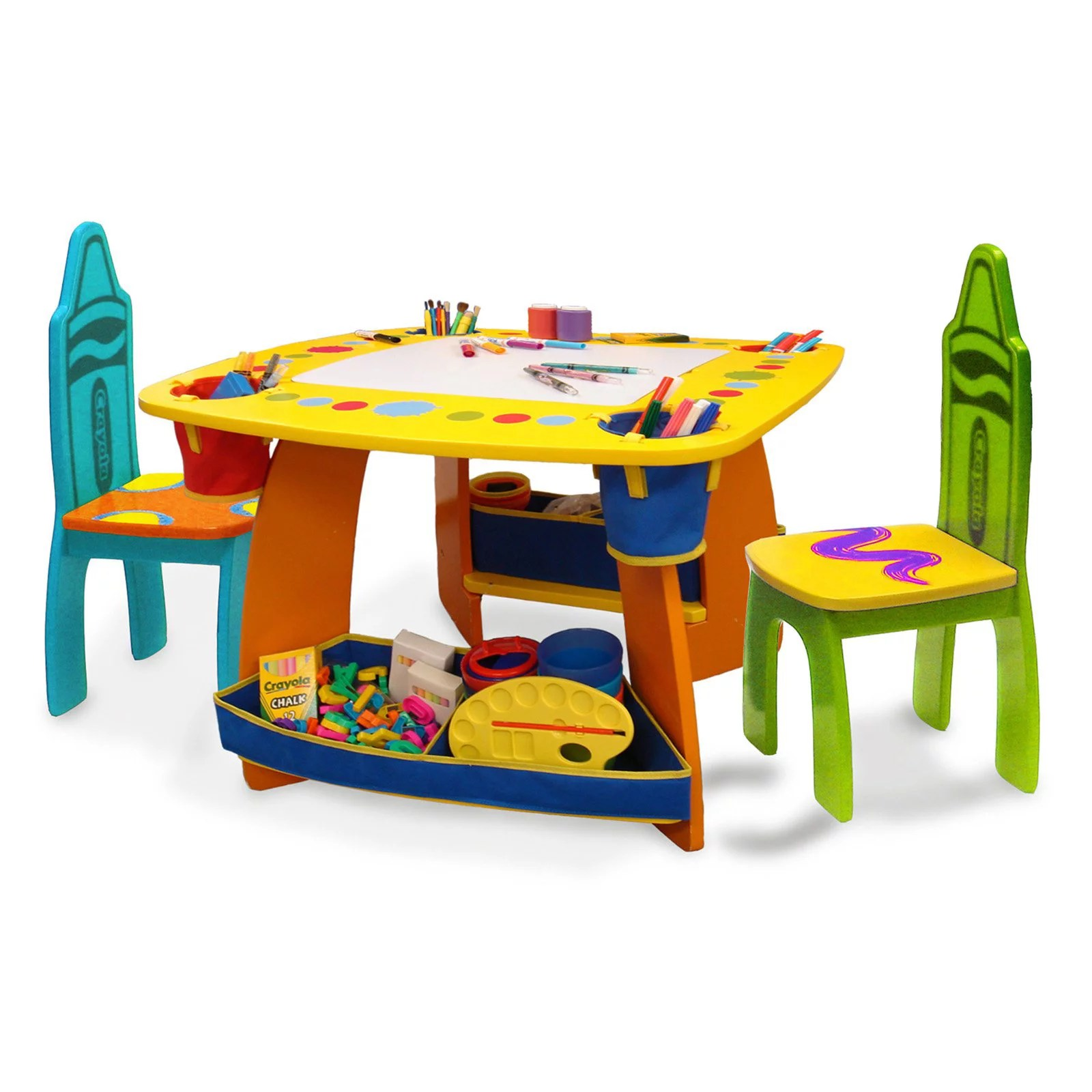 Kids Wood Table And Chairs Grow N Up Crayola Kids Wooden Table Chair Set