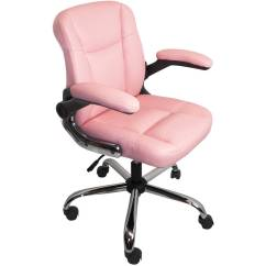 Office Chair Posture Used Leather Club Chairs For Sale Aleko Alc2155pn Mid Back Ergonomic Computer Desk Pu Pink Walmart Com