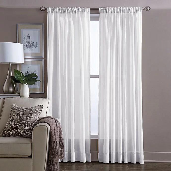 wamsutta sheer 84 inch window curtain panel in white walmart com