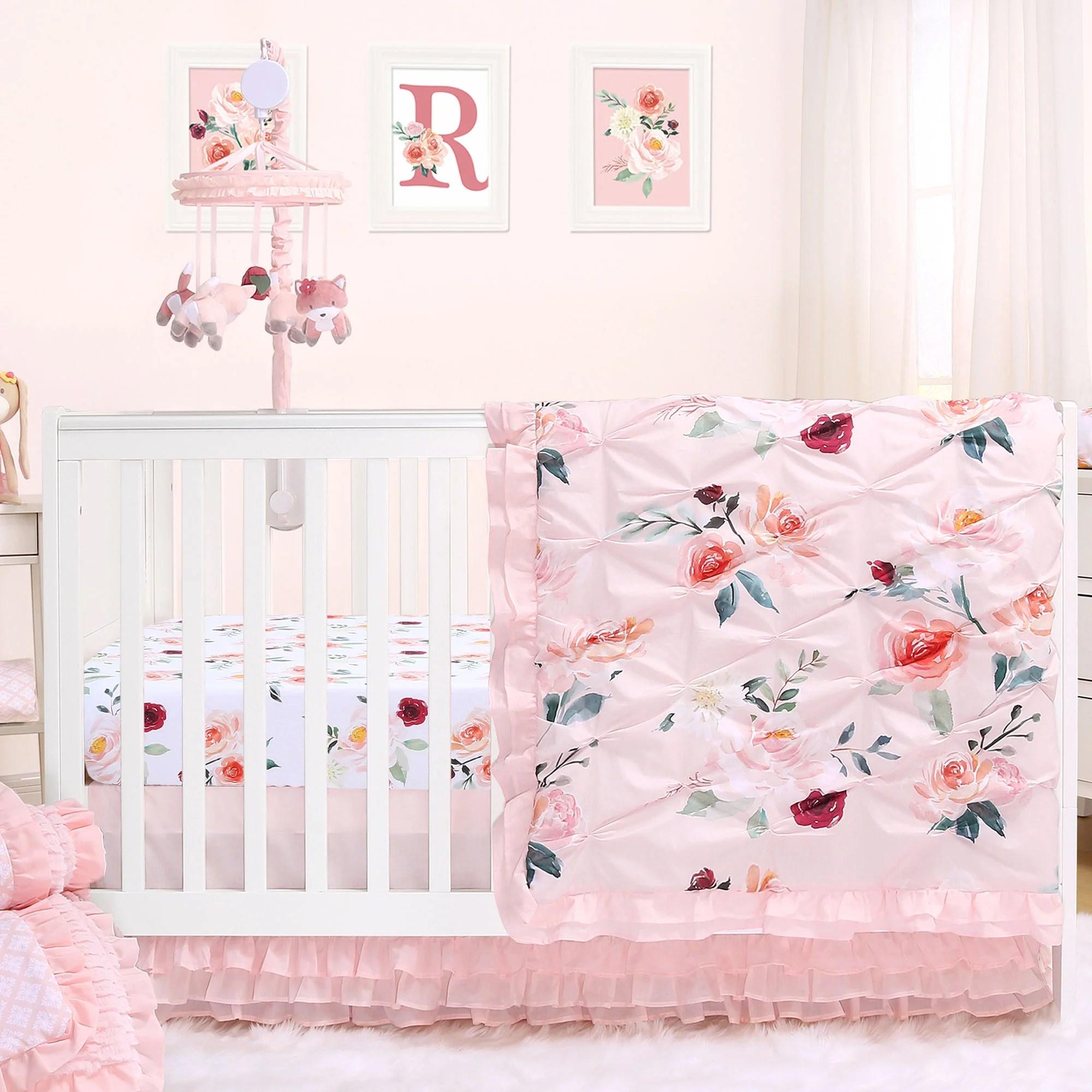 rose watercolor floral blush