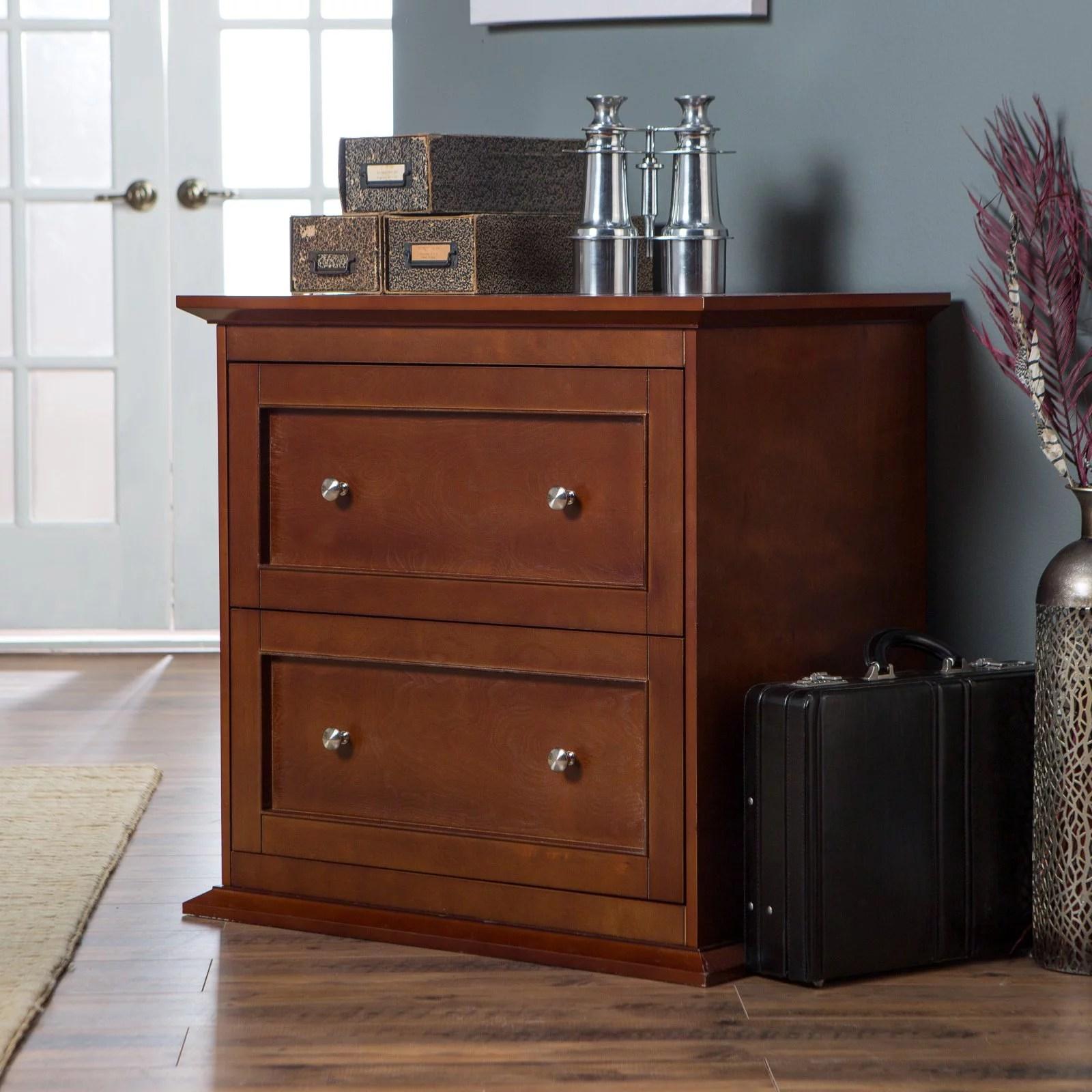 Belham Living Hampton 2 Drawer Lateral Wood Filing Cabinet Cherry Walmart Com Walmart Com