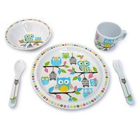 CUL Distributors Culina 5 Piece Kids Melamine Owl ...
