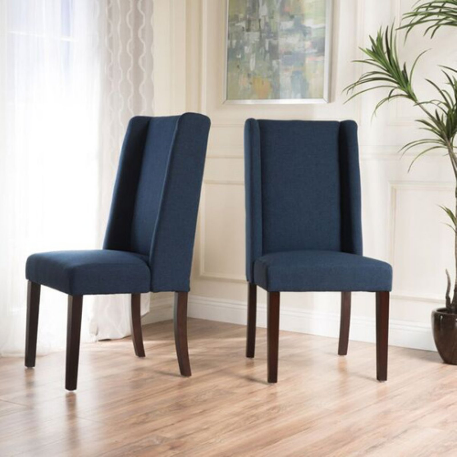 rory upholstered dining chair set of 2