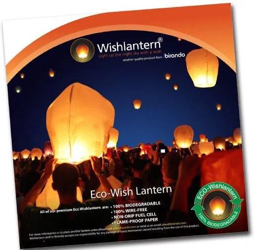 Eco White Wishlantern Pack Of 5