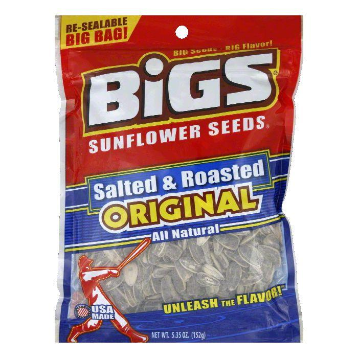 Bigs Salted and Roasted Sunflower Seeds 535 OZ Pack of