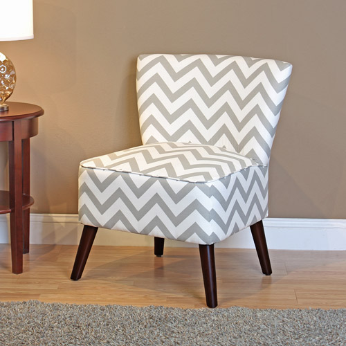 grey and white accent chair upholstered lounge dorel living kinsley chevron gray walmart com