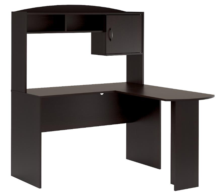 Mainstays Lshaped Desk In Espresso Color  Walmartcom