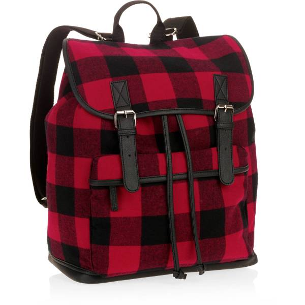 Women' Red Plaid Backpack