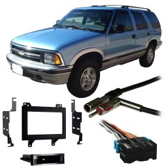 Kenwood Double Din Wiring Diagram 1999 Ford F250 Ignition Switch Harnesses Walmart Com Product Image Fits Chevy S 10 Blazer 95 97 Stereo Harness Radio Install Dash