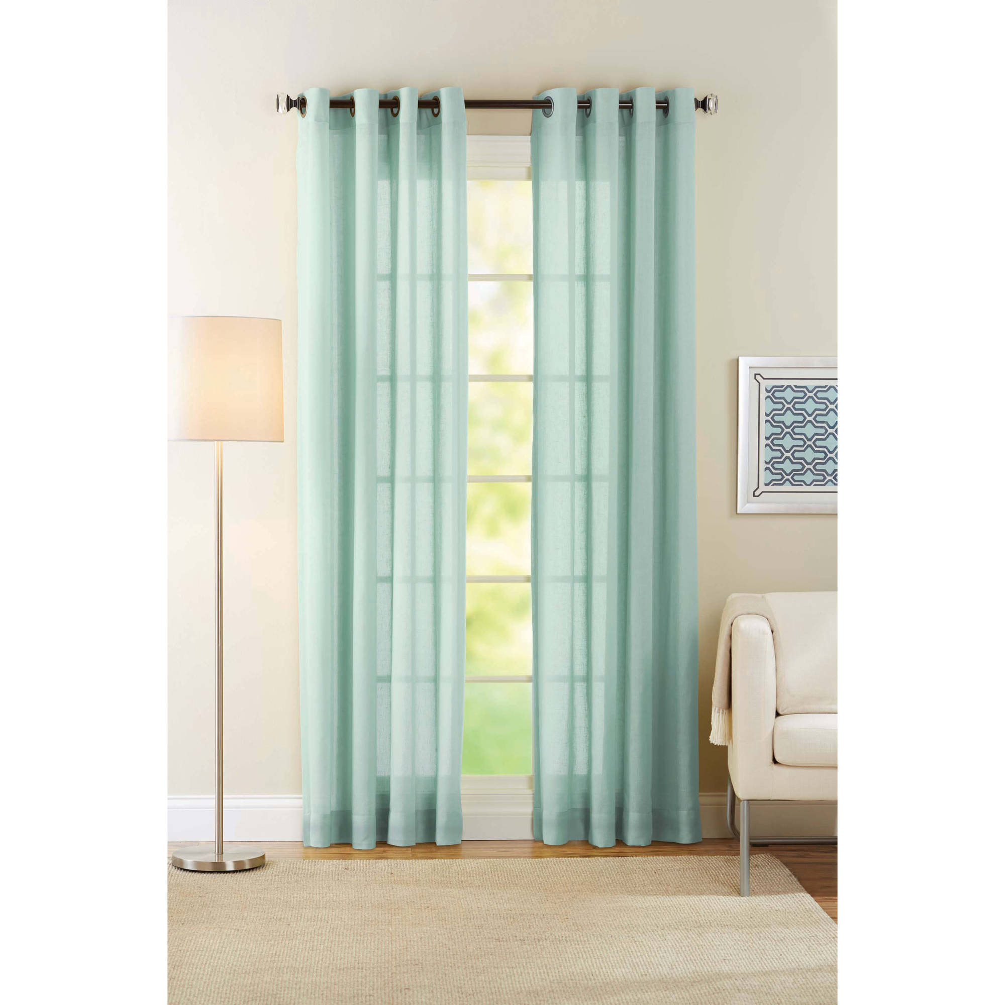Better Homes And Gardens Semi Sheer Window Curtain Walmart Com