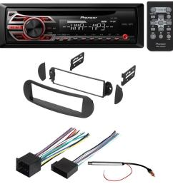 car stereo radio receiver dash installation mounting kit w wiring harness and radio antenna adapter for select volkswagen beetle vehicles walmart com [ 1000 x 1000 Pixel ]