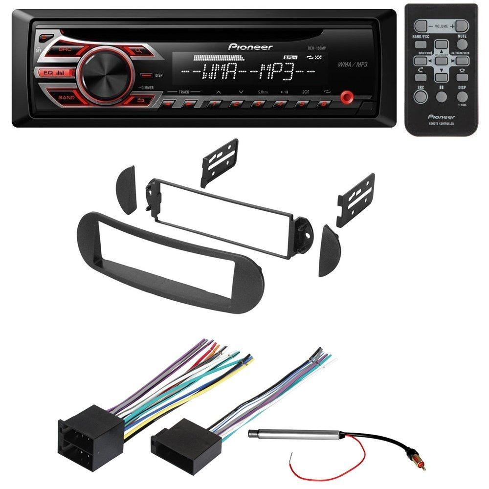 medium resolution of car stereo radio receiver dash installation mounting kit w wiring harness and radio antenna adapter for select volkswagen beetle vehicles walmart com