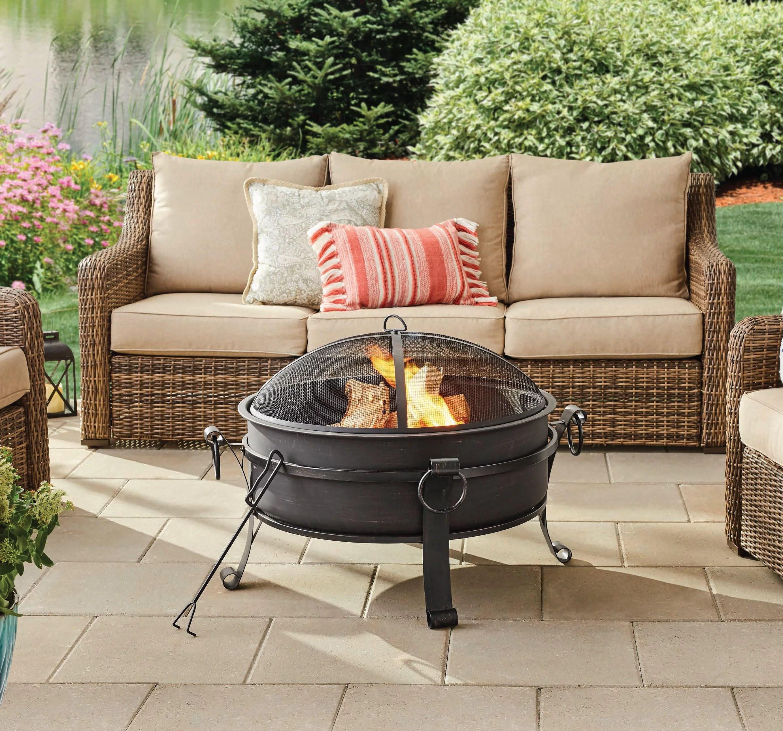 better homes gardens 30 fire pit table antique bronze finish walmart com