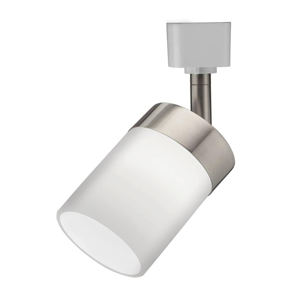 lithonia lighting cylinder glass 1 light brushed nickel track lighting head store return walmart com