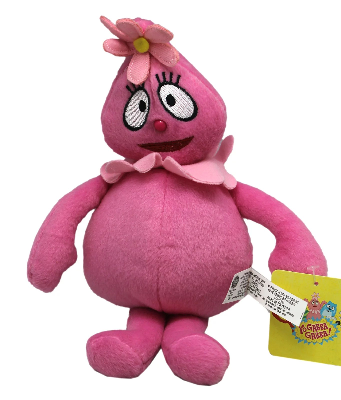Yo Gabba Gabba Foofa Pink Colored Small Size Kids Plush