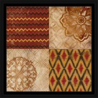 Traditional Tribal Pattern Medallion Ikat Chevron Pattern ...
