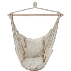 Hanging Hammock Chair Dorm Chairs For Guys Swing With Two Cushions White Walmart Com Departments