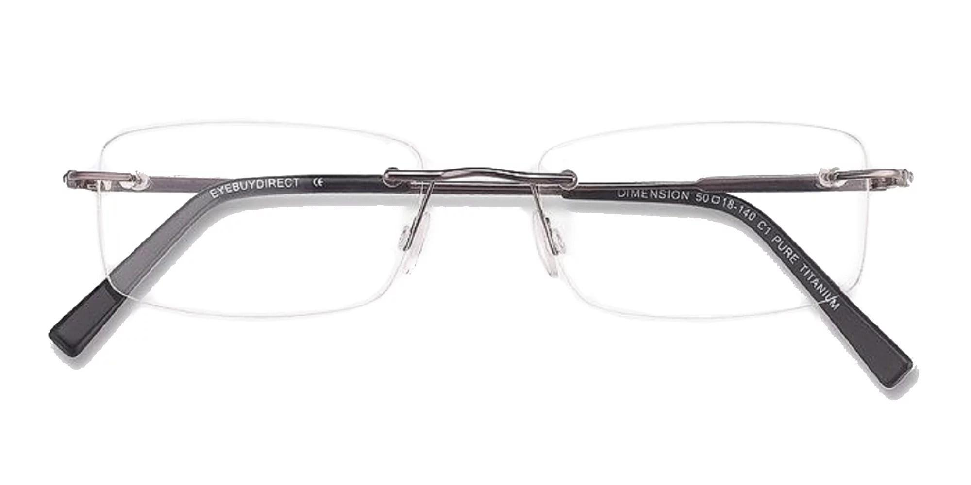 Naturally Rimless Men's Eyeglasses Frame Rimless Metal ...