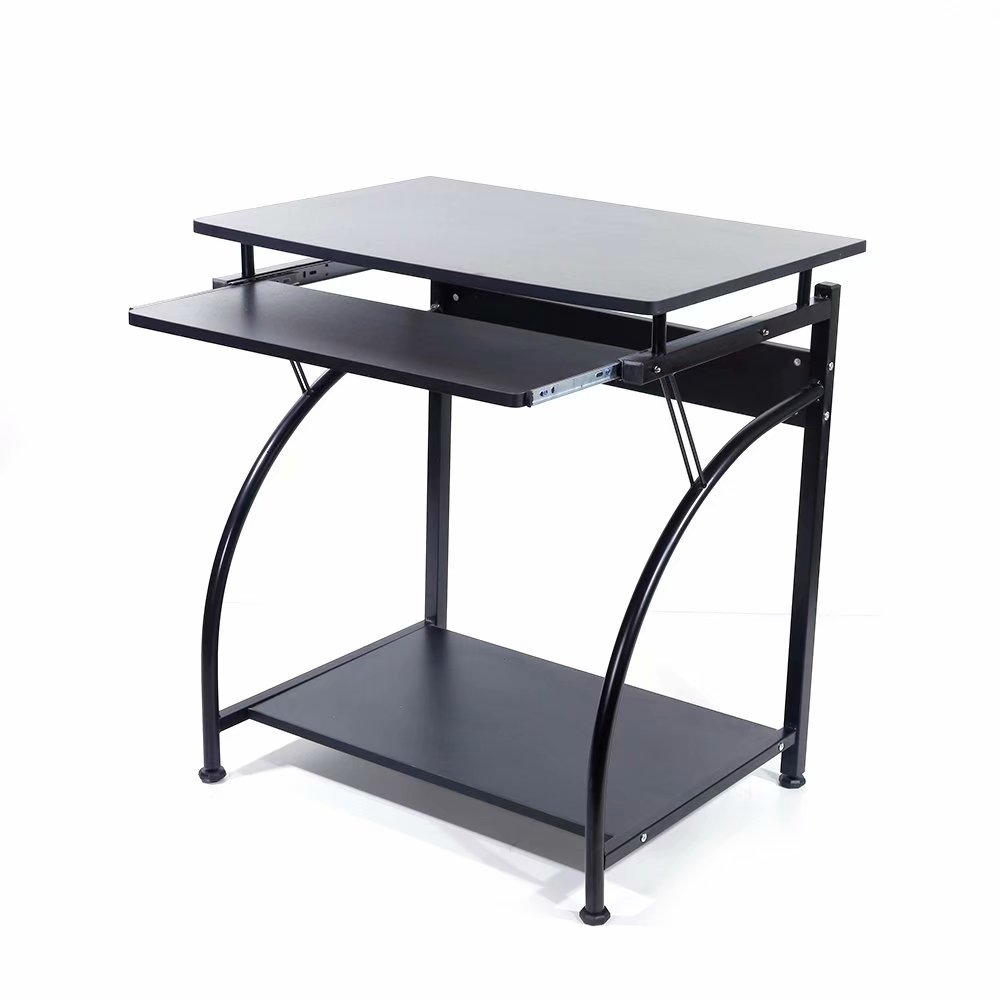 Clearance Computer Desk with Keyboard Host Layer Black