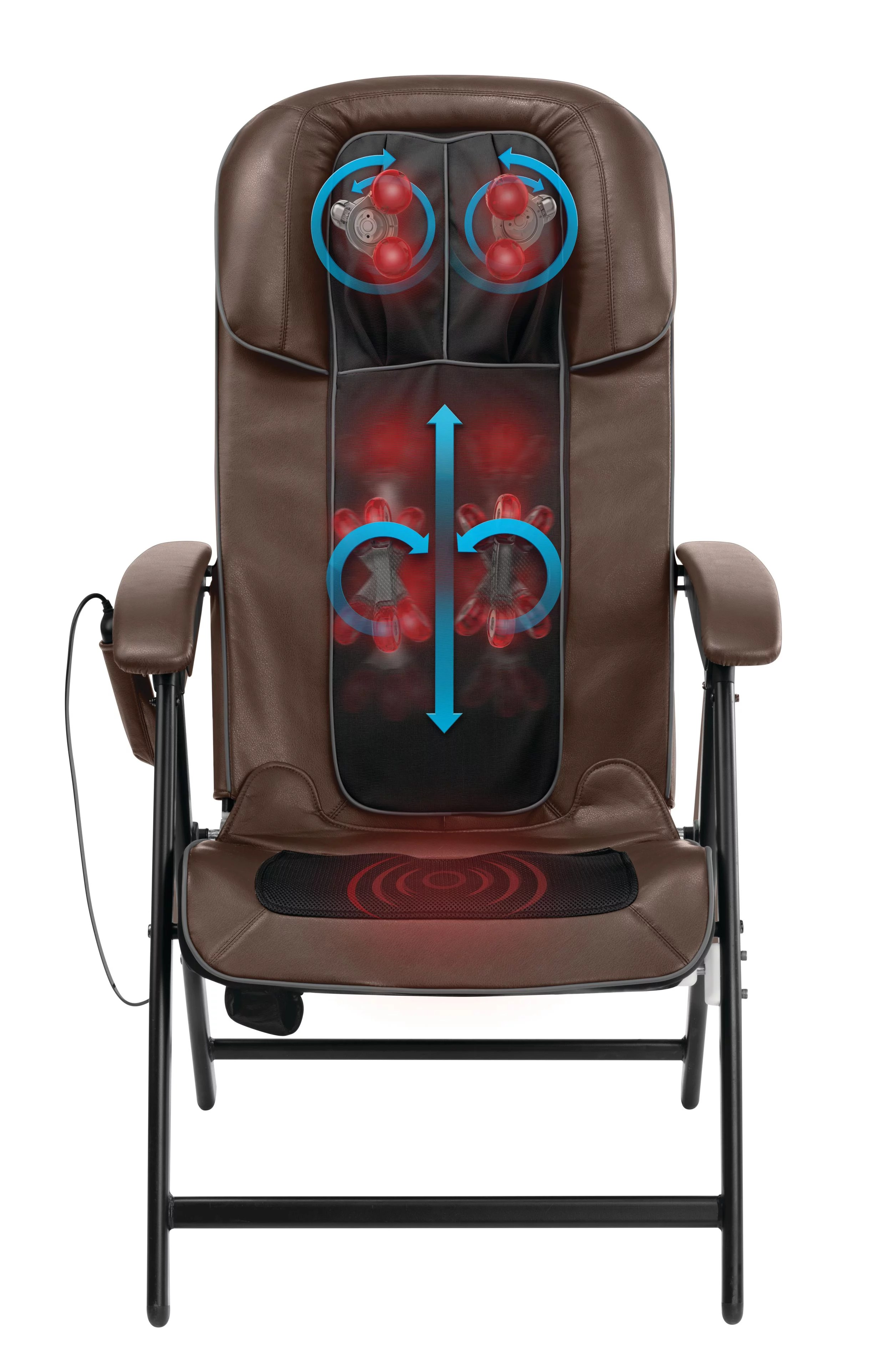 back massage chair graco doll high set homedics easy lounge shiatsu folding mcs 1210h walmart com