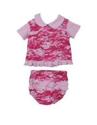 Baby / Infant Digital Pink Camo Dress and Ruffled Pantie 0 ...