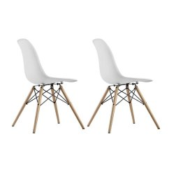 Tell City Chairs Pattern 4222 Wedding Chair Covers Hire Sheffield Dhp Mid Century Modern Molded With Wood Leg Set Of 2 Walmart Com