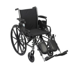 Drive Wheel Chair Black Metal Folding Chairs Medical Cruiser Iii Light Weight Wheelchair With Flip Back Removable Arms Desk Elevating Leg Rests 18 Seat Walmart Com