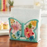 Pioneer Woman Stoneware Butterfly Napkin Holder Walmart Com Walmart Com