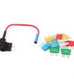 unique bargains car vehicle blade fuse circuit adapter holder safety tap diy apm w 10 fuses walmart com [ 1100 x 1100 Pixel ]