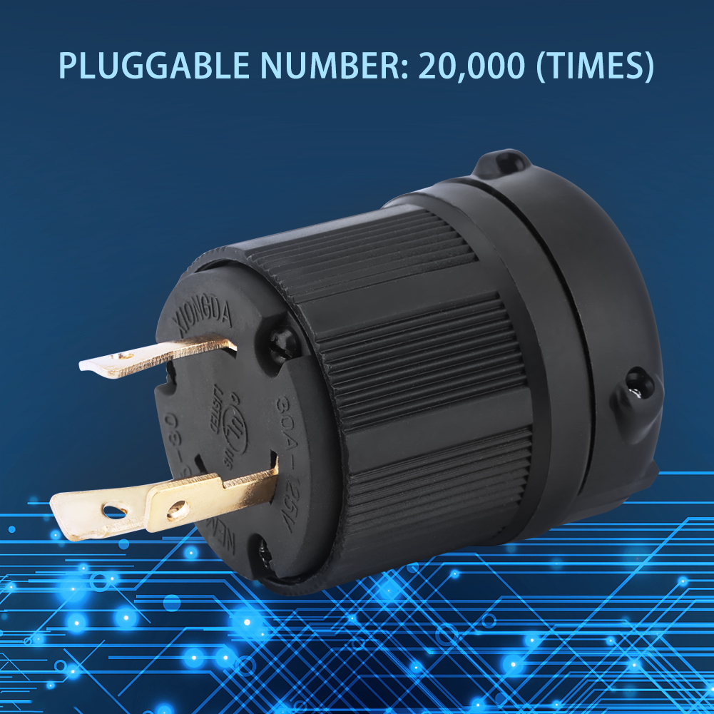 medium resolution of nema l5 30 30a 125v 3 wire twist lock electrical plug connector mix nema l5 30