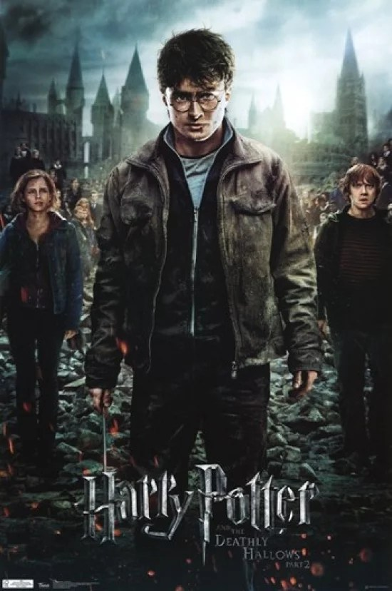 harry potter and the deathly hallows part 2 movie poster print 24 x 36