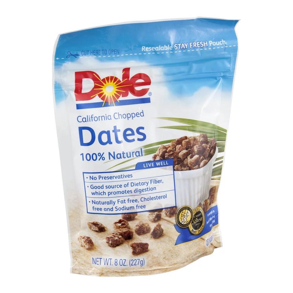 Dole California Chopped Dates 8 Oz Pack of 4 Walmartcom