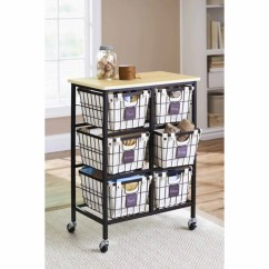 Rolling Cart For Kitchen Glass Pendant Lights Island Better Homes And Gardens 6 Drawer Wire Black Walmart Com