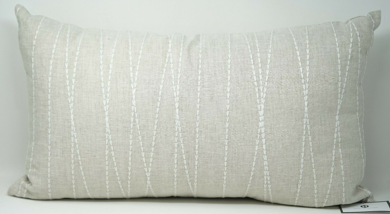 hotel collection linen cotton waffle weave 14 x 24 decorative pillow natural