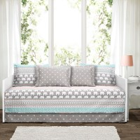 Elephant Stripe Turquoise/Pink 6Pc Daybed Cover Set 39x75 ...