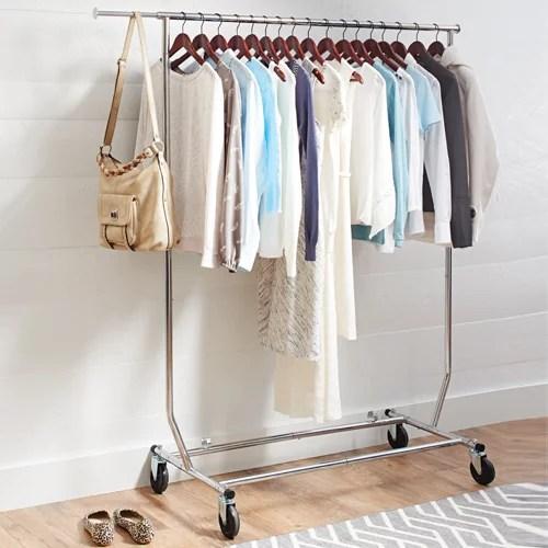 better homes gardens folding adjustable garment rack chrome