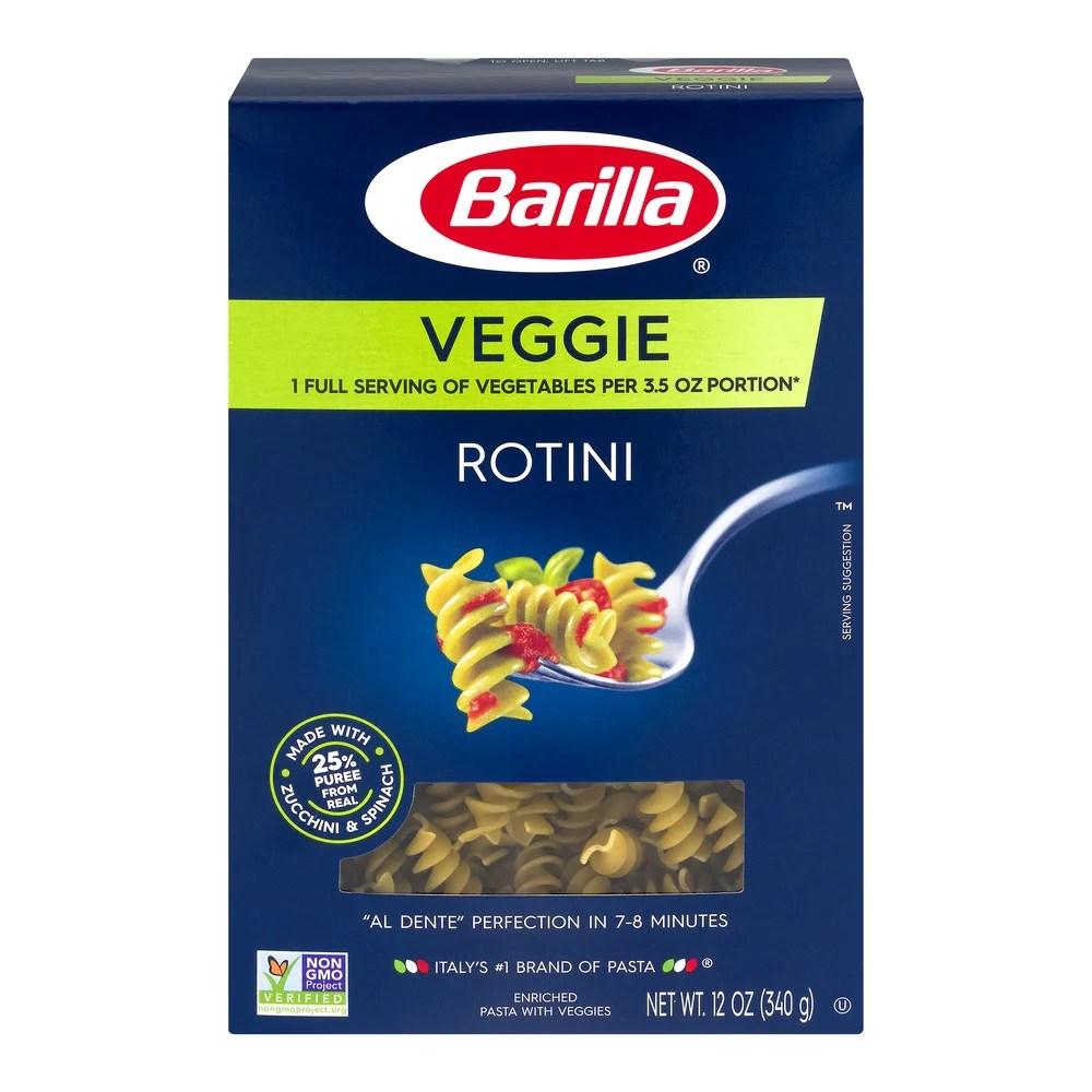 Barilla Pasta Rotini Veggie 120 OZ Walmartcom