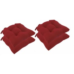 Chair Cushions With Tie Backs Metal Kitchen Generic Micro Fiber Pads Set Of 4 Walmart Com