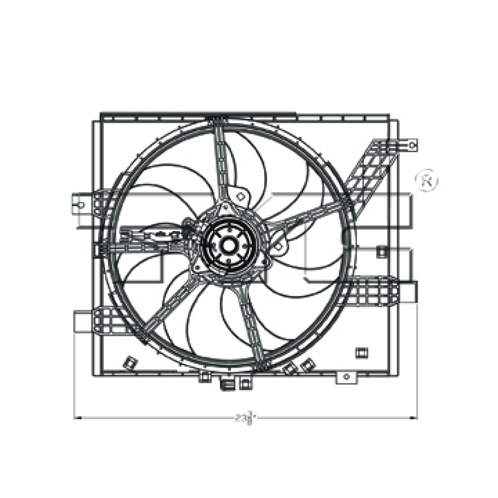 For Nissan Versa Radiator / Condenser Cooling Fan Assembly
